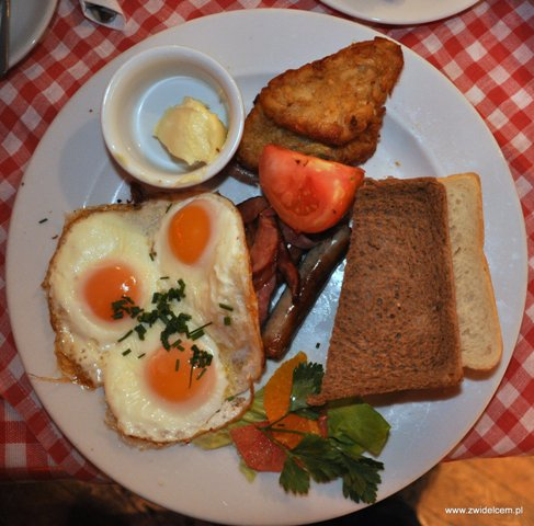 Jeff's - śniadanie po amerykańsku - od góry