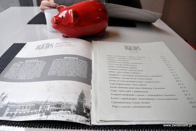 Bistro Magnes - menu