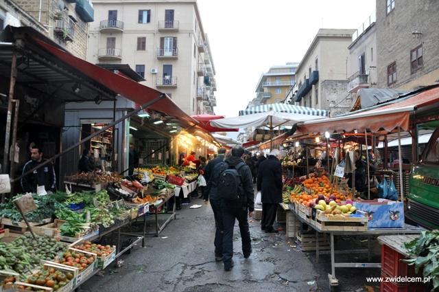 Palermo - Ballaro market - widok ogólny