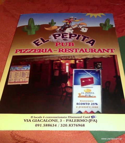 El Pepita menu