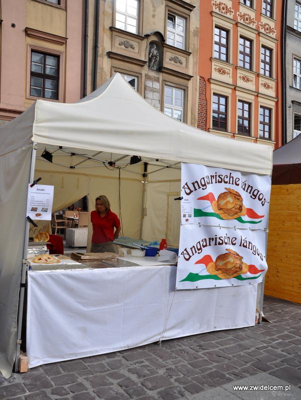 Kraków - Mały Rynek - Dni Węgrzyna - stoisko Langosze