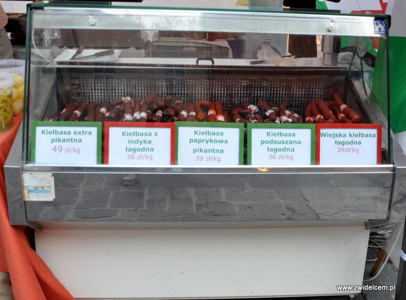Kraków - Mały Rynek - Dni Węgrzyna - węgierskie kiełbasy