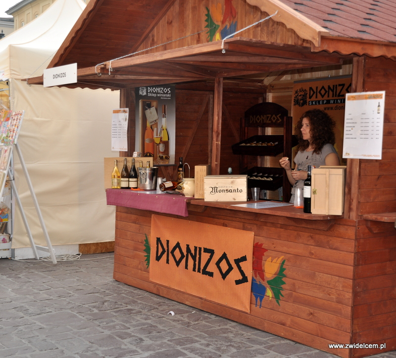 Kraków - Mały Rynek - Dni Węgrzyna - stoisko Dionizos