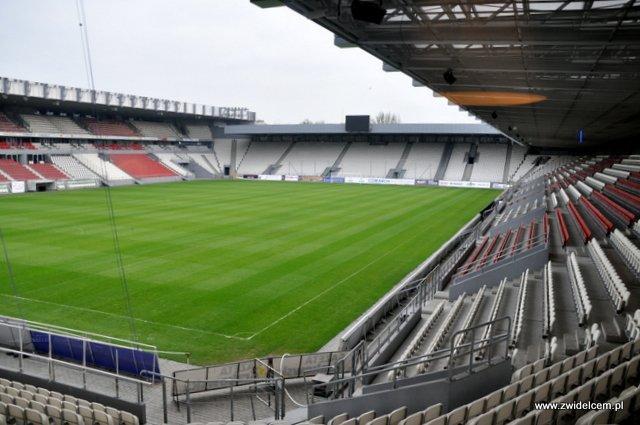Kraków - Chick'n'Champs - widok na stadion