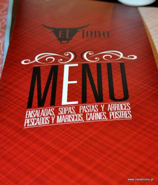 Kraków - El Toro - menu