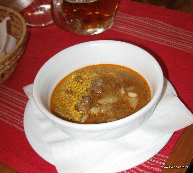 Warszawa - U Madziara - Zupa gulaszowa