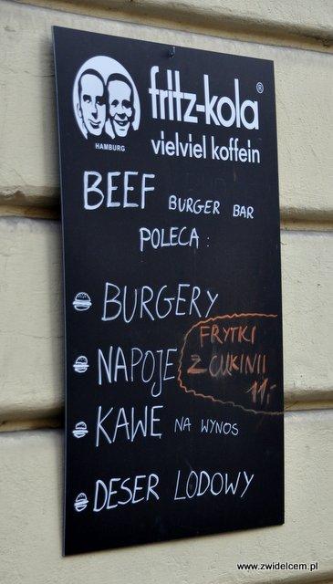 Kraków - Beef Burger Bar - Afisz