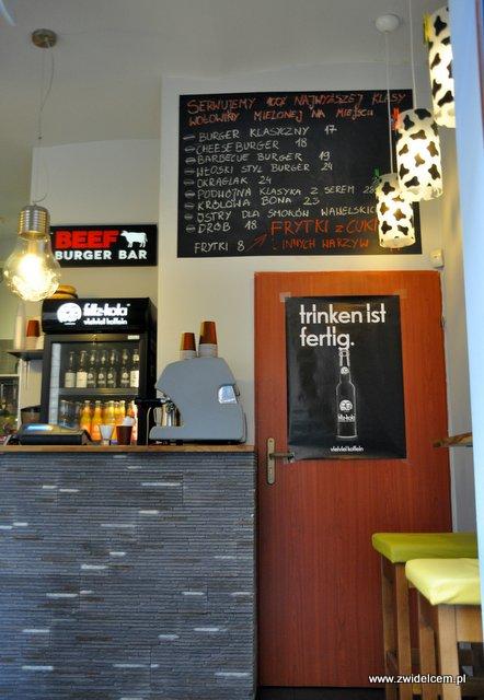 Kraków - Beef Burger Bar - Menu