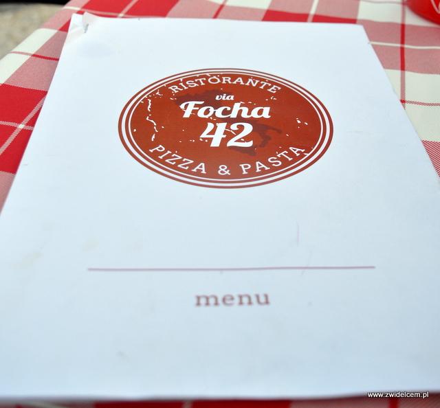 Kraków - Focha 42 - menu