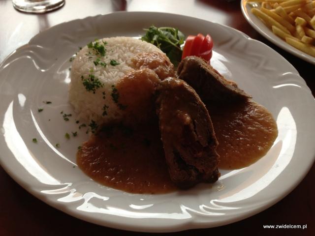 Morawy - Rozdrojovice - Hotel Atlantis - Roladki wołowe z szynką parmeńską