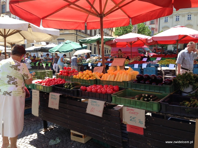Morawy - Brno - Zelný trh - Stragan z warzywami