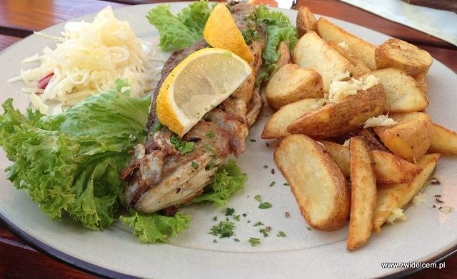 Morawy - Brno - Restaurace U Kotvy- Pstrąg ziemniakami z czosnkiem