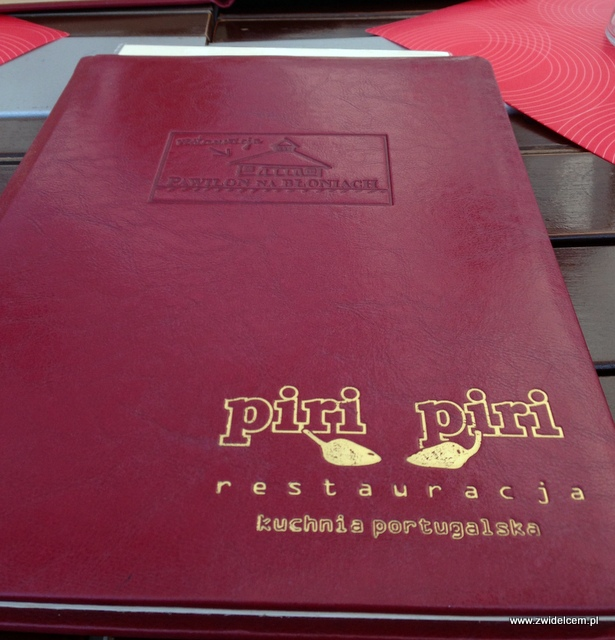 Kraków - Piri piri - menu