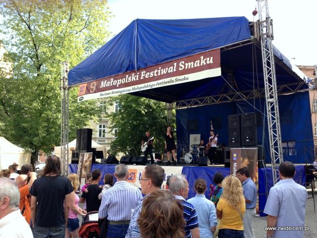 Kraków - Plac Wolnica - Małopolski Festiwal Smaku - scena