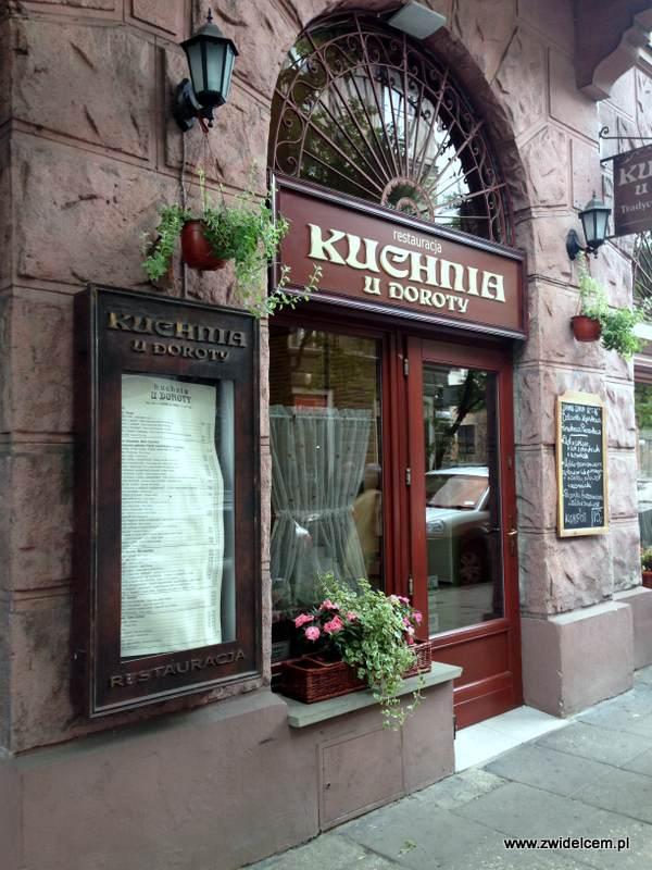 Kraków - Kuchnia u Doroty - wejście i menu