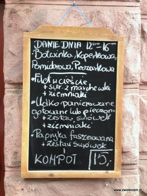 Kraków - Kuchnia u Doroty - menu na zewnątrz