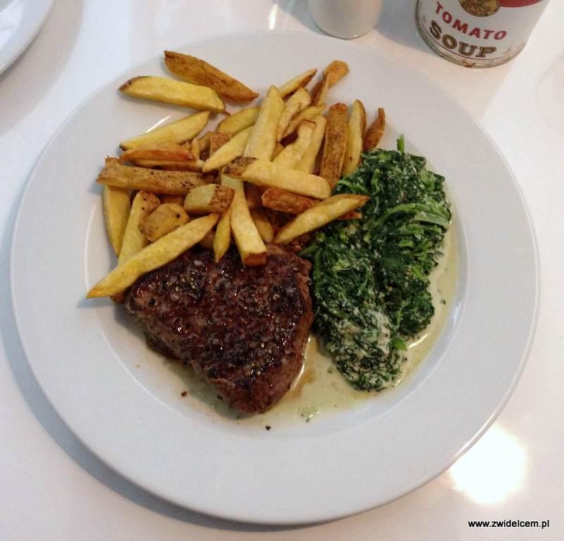 Kraków - Well Done - stek z frytkami i szpinakiem