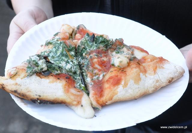Najedzeni Fest Jesień - Wino i śpiew - pizza z ricotta i szpinakiem