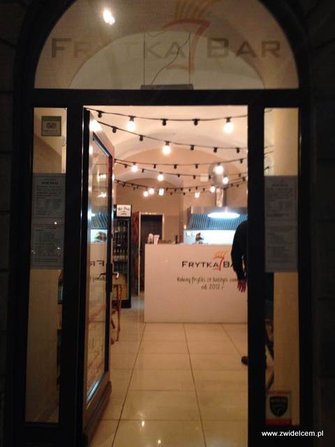 Kraków - Frytka Bar - wejście