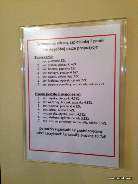 Kraków - Frytka Bar - menu na ścianie