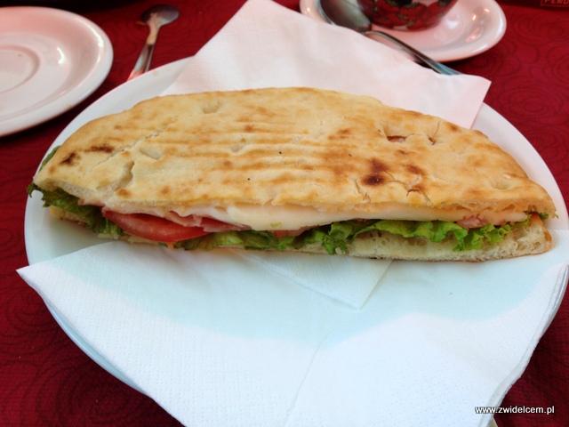 Piza - Cafe Torre - panino z szynką