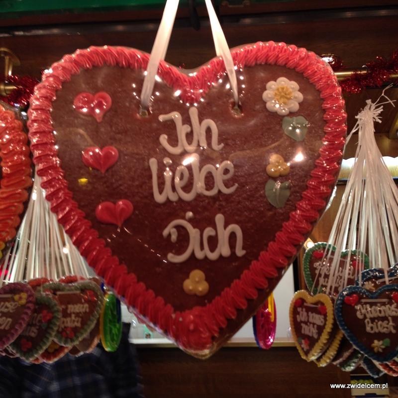 Berlin - weihnachtsmarkt charlottenburg - serce z piernika