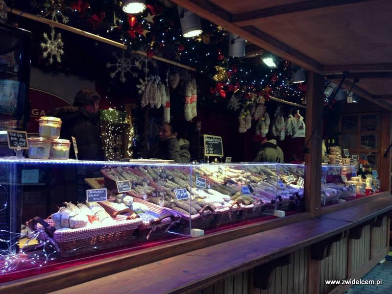 Berlin – Weihnachtsmarkt am Alexanderplatz - kiełbasy