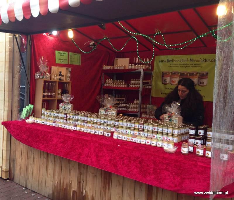 Berlin – Weihnachtsmarkt am Alezanderplatz - musztardy i sosy