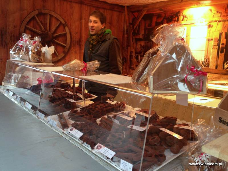 Berlin – Weihnachtsmarkt w Charlottenburg - czekolada
