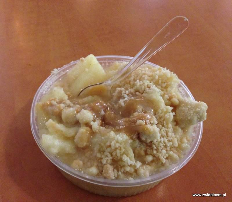 Berlin - Markthalle Neun - Street Food Thursday - jabłka pod kruszonką