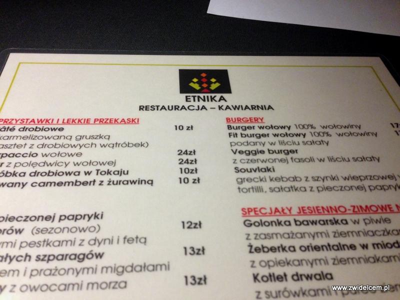 Kraków - Etnika - menu