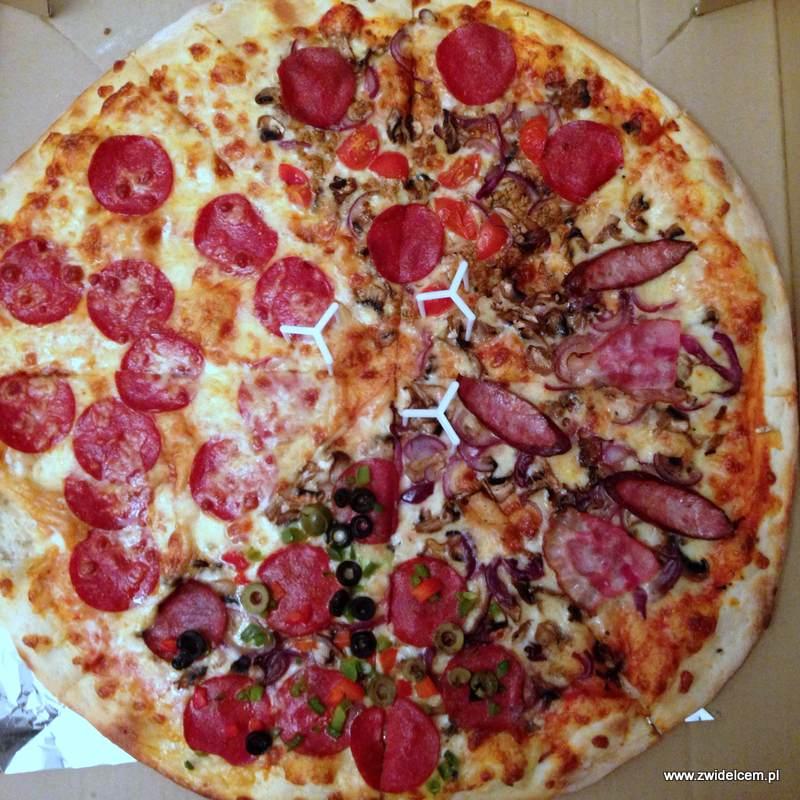 Kraków - Apetyt Bistro - pizza cztery rodzaje