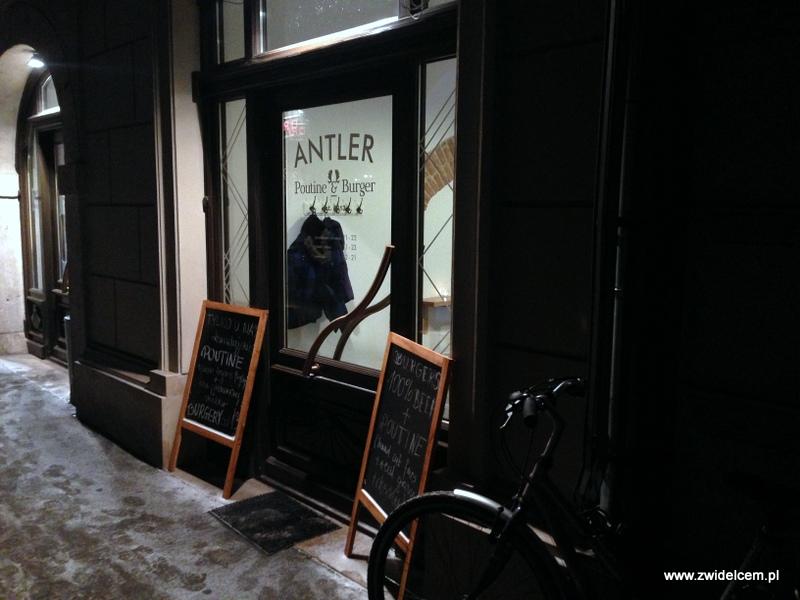 Kraków - Antler Poutine&Burger - wejście