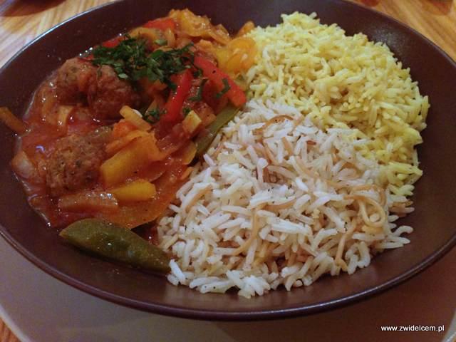 Kraków - Laila - kebab indyjski z cebulą i papryką w pomidorach