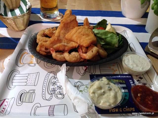 Kraków - Dorsche - talerz smakosza i sosy