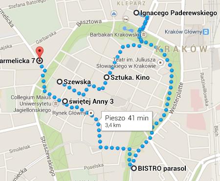 Kraków - spacer - nowe lokale