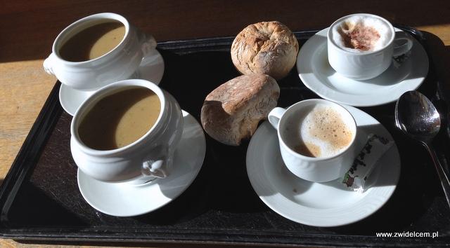 Szwajcaria - Rigi - Kawa i zupa krem z jarzyn