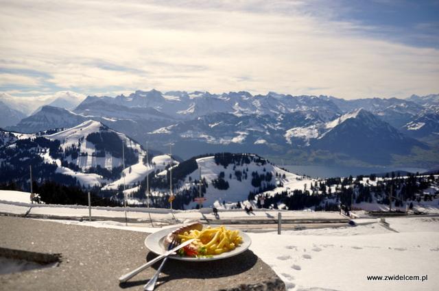Lucerna - Rigi - Kiełbasa na tle Alp