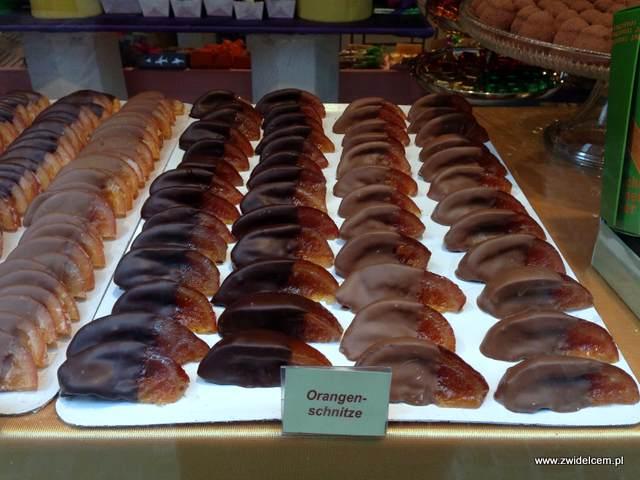 Zurich - pomarańcze w czekoladzie