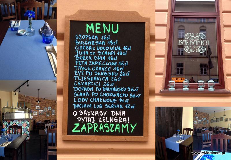 Kraków - Bałkanica - menu i wejście