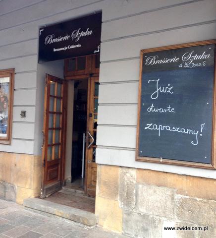 Kraków - Brasserie Sztuka - wejście