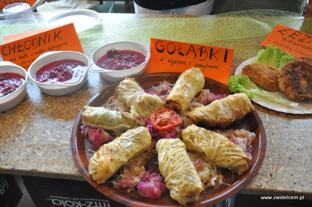 Kraków - Najedzeni Fest Slow Food - Spółzielnia - gołąbki z ryżem i grzybkami