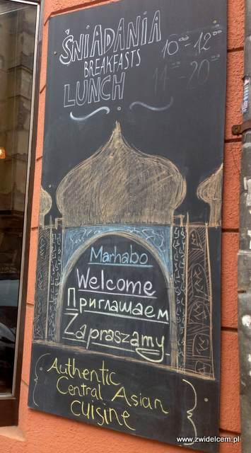 Kraków - Restauracja uzbecka Samarkand - tablica