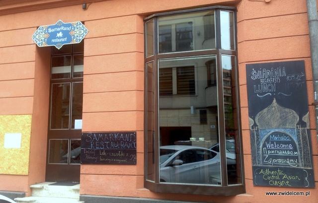 Kraków - Restauracja uzbecka Samarkand - front