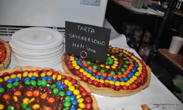 Kraków - Foodstock BBQ - Fabryka - La Baguette - tarta snickersowo - M&M'sowa