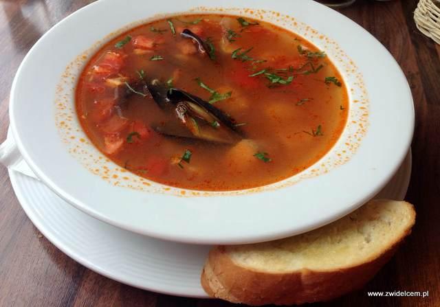Kraków - Oregano - zupa rybna z małżami