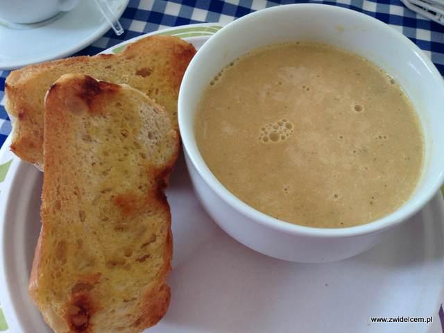 Kraków - Zielonki - Tawerna Rybna Skipper - zupa rakowa z krewetkami