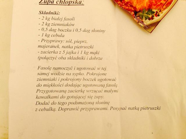 Wieliczka - Małopolski Festiwal Smaku - przepis na zupę chłopską