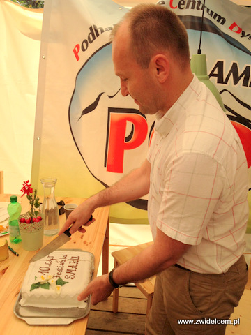 Stary Sącz - Małopolski Festiwal Smaku - tort z okazji dziesiątej edycji festiwalu