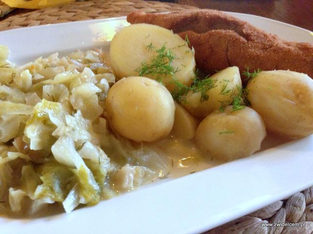 Kraków - Jadło u Bociana - de volaille z ziemniakami